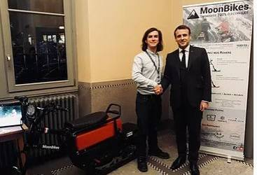 MoonBikes meets French President Macron