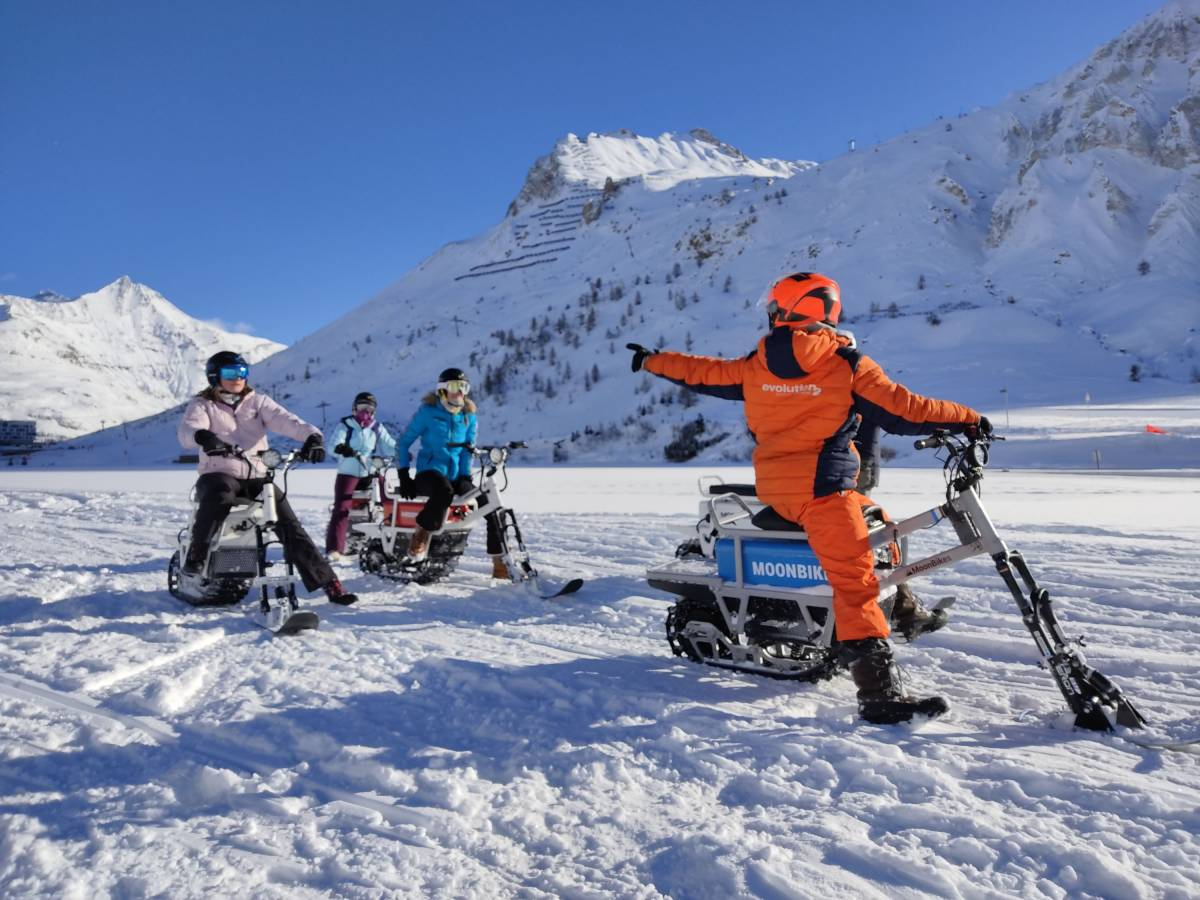 MoonBikes is a winter activity for the general public