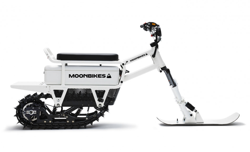 The MoonBike is an electric snowbike.